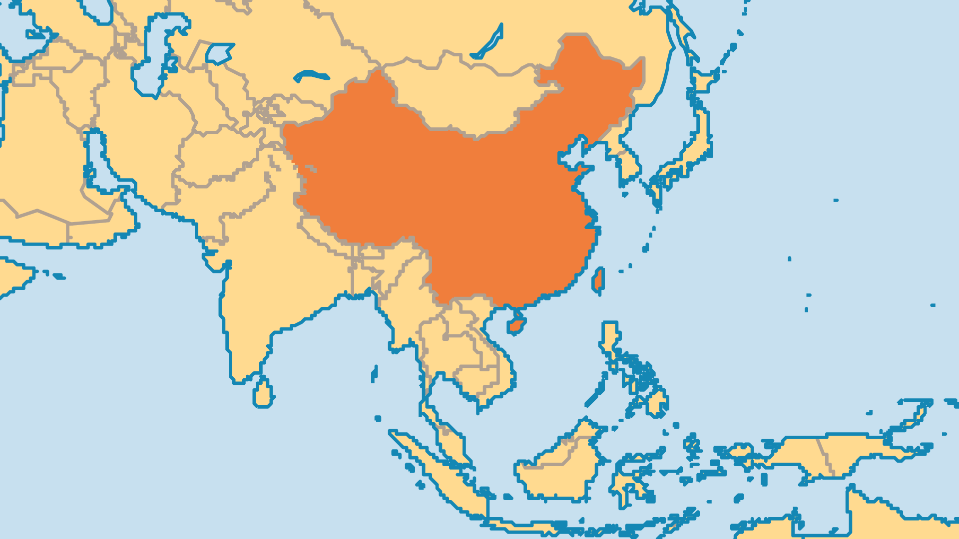 Locator Map for People's Republic of China