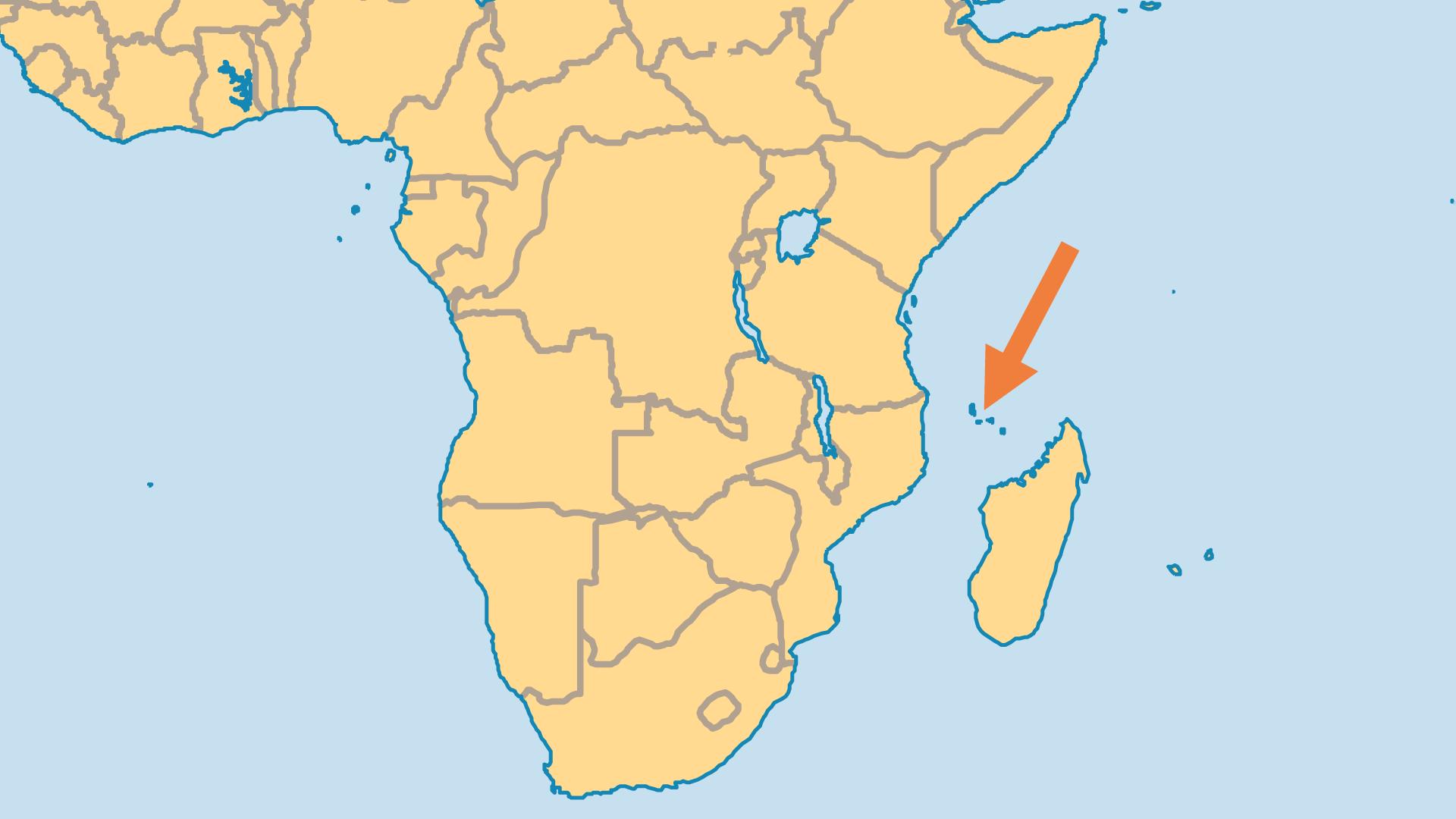 Locator Map for Comoros