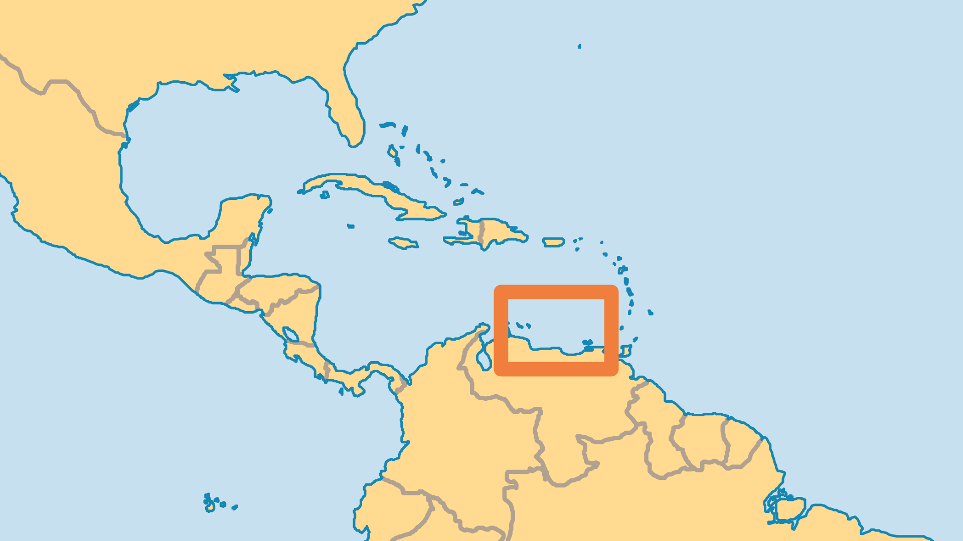 Locator Map for Curaçao