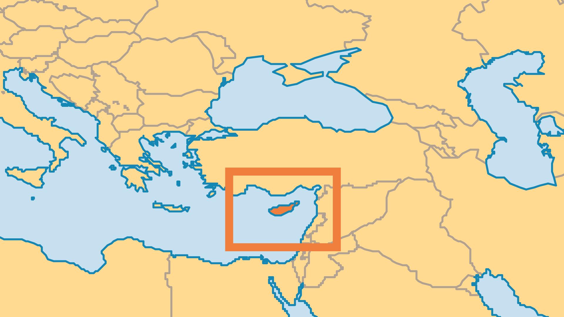 Locator Map for Cyprus