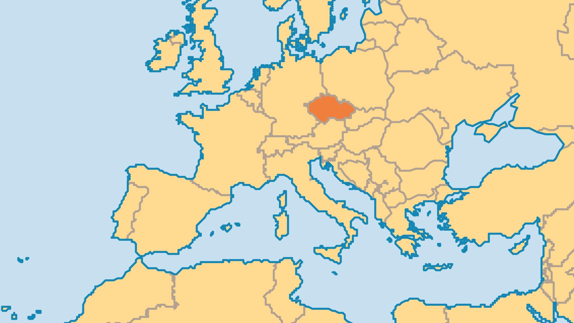 Locator Map for Czechia