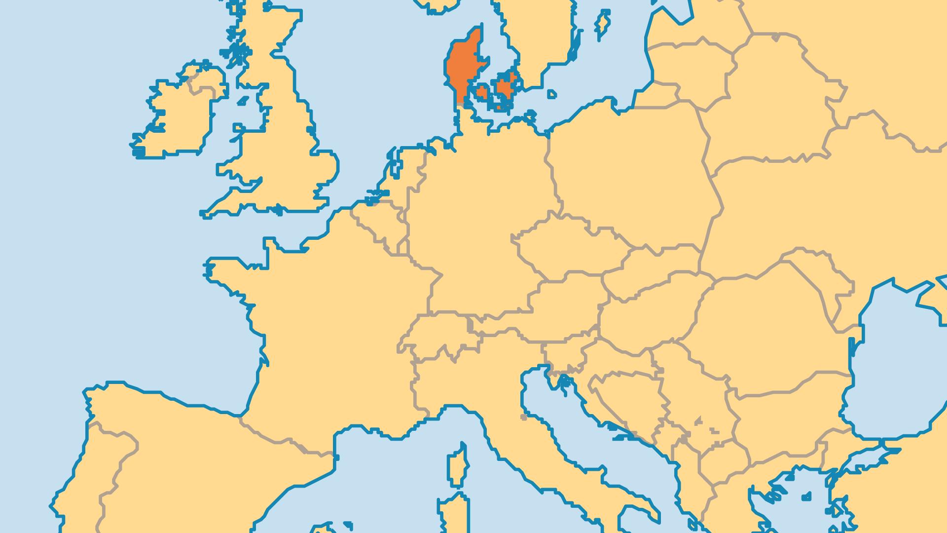 Locator Map for Denmark