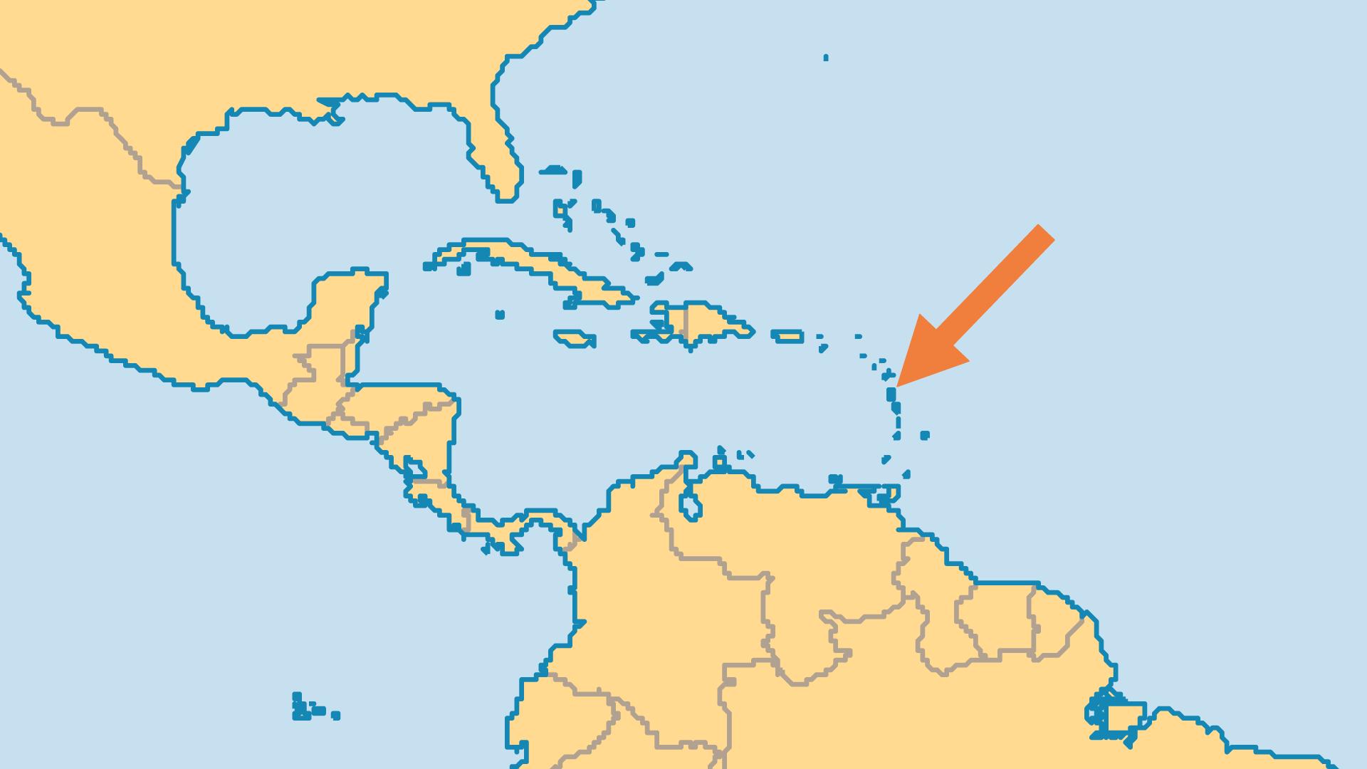 Locator Map for Dominica