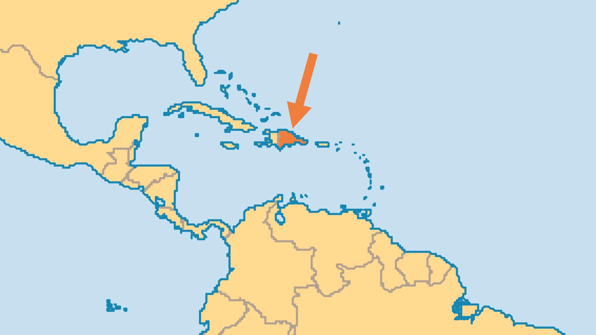 Locator Map for Dominican Republic