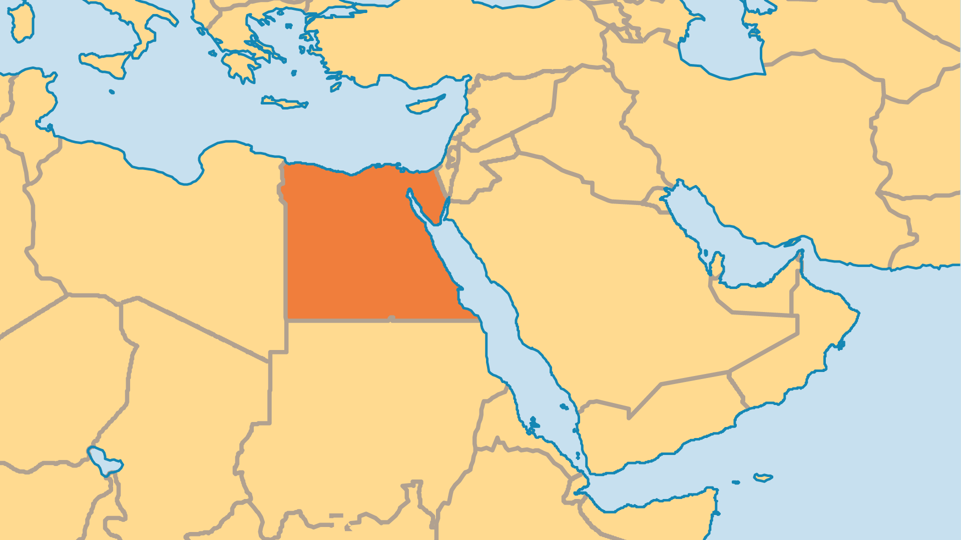 Locator Map for Egypt