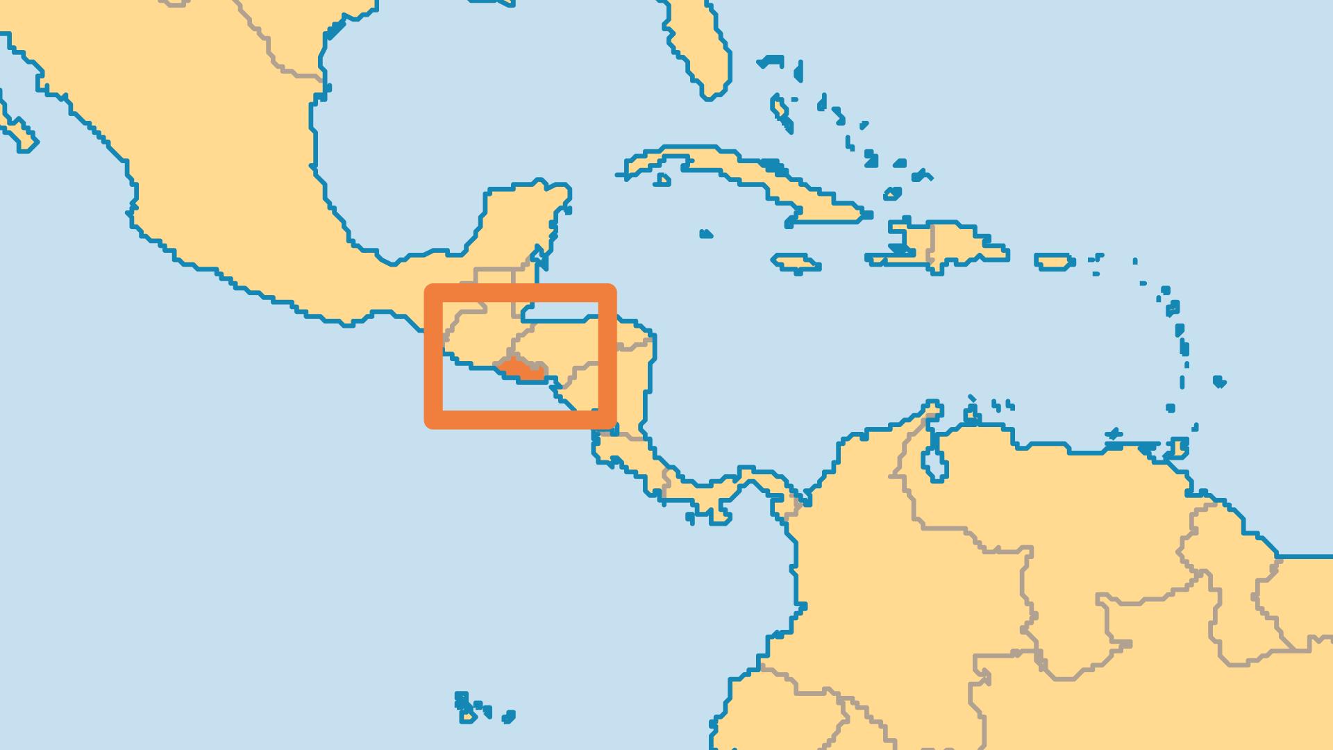 Locator Map for El Salvador