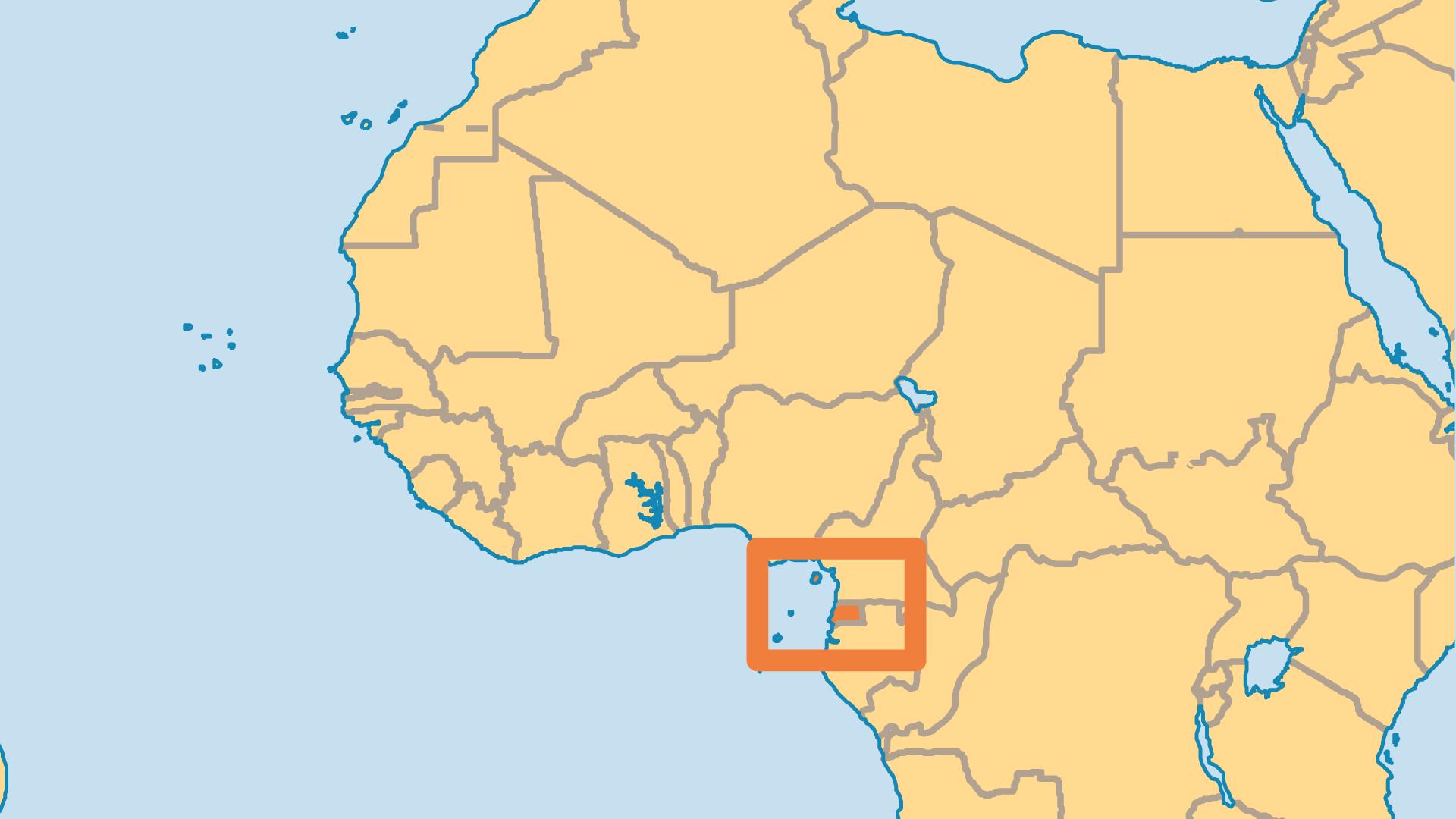 Locator Map for Equatorial Guinea