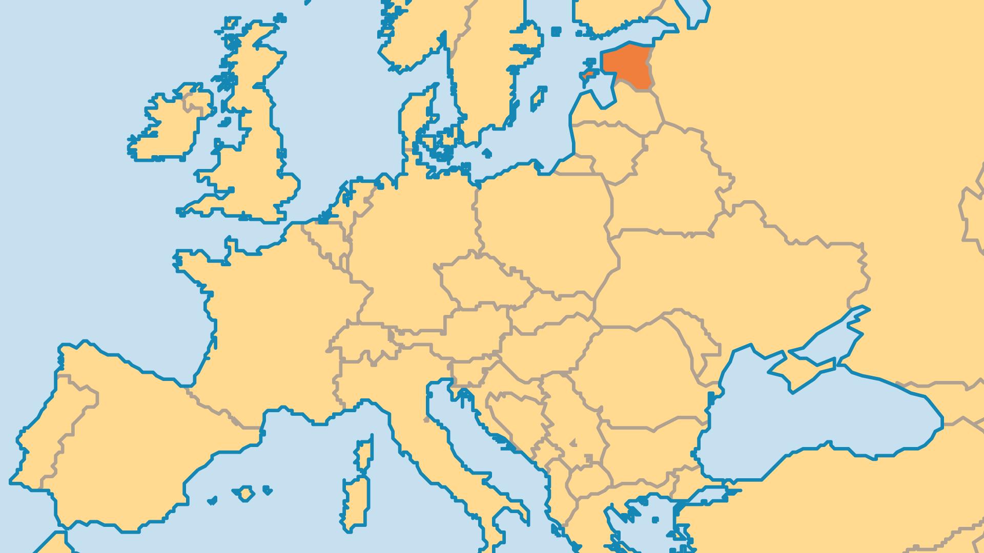 Locator Map for Estonia