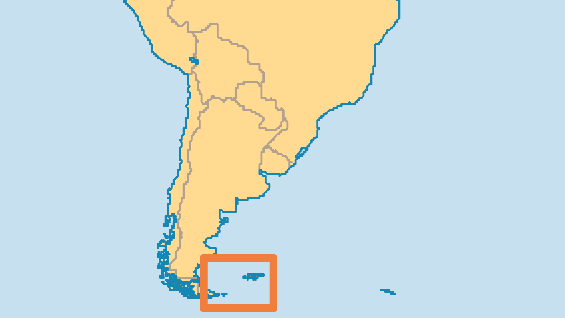 Locator Map for Falkland Islands
