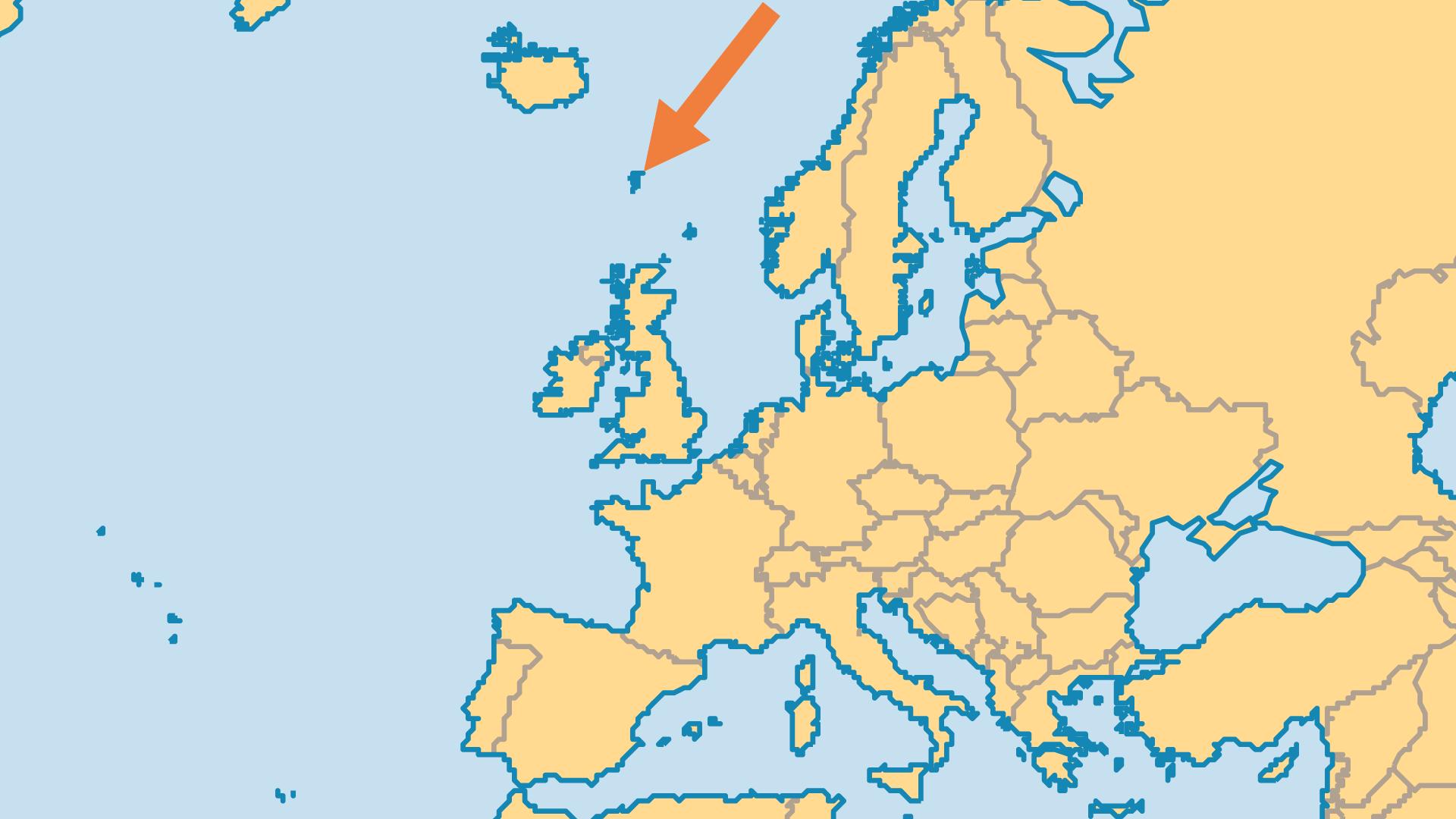 Locator Map for Faroe Islands