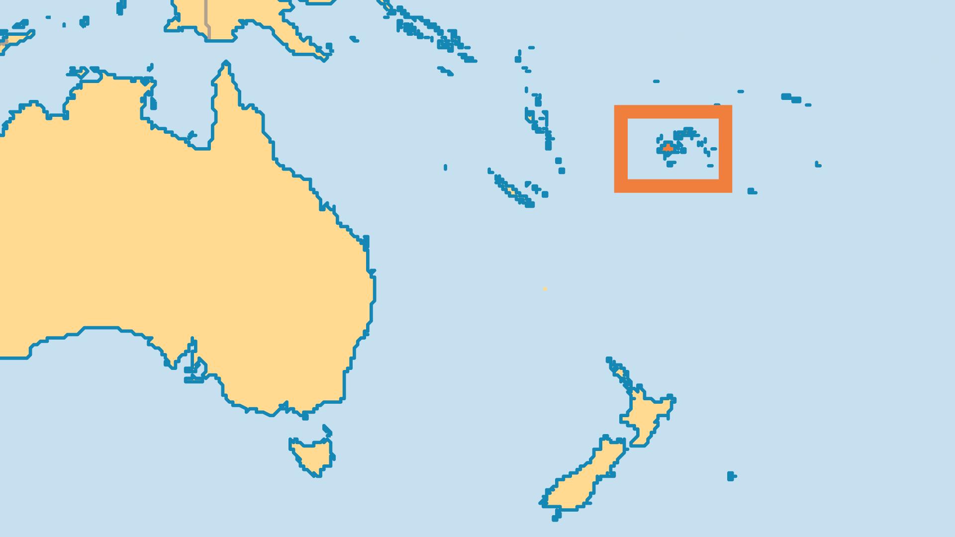 Locator Map for Fiji