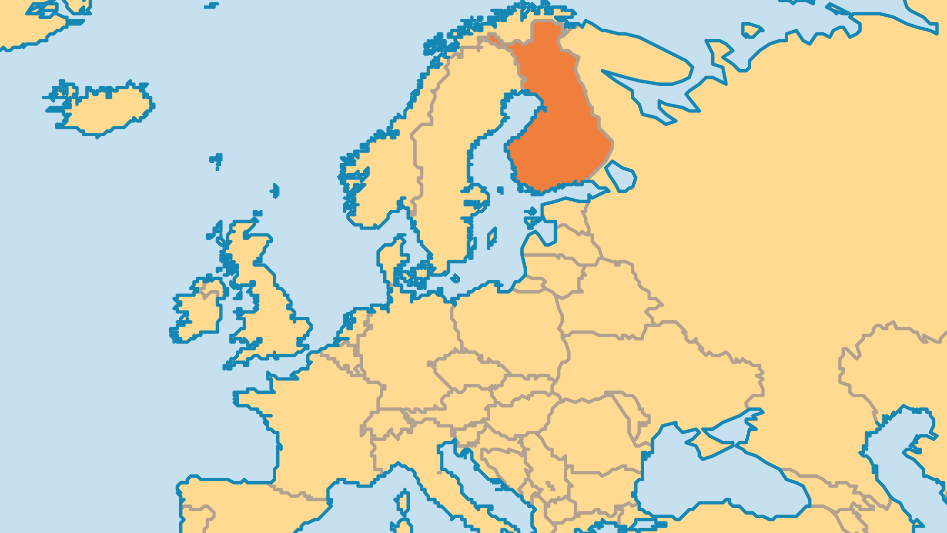 Locator Map for Finland
