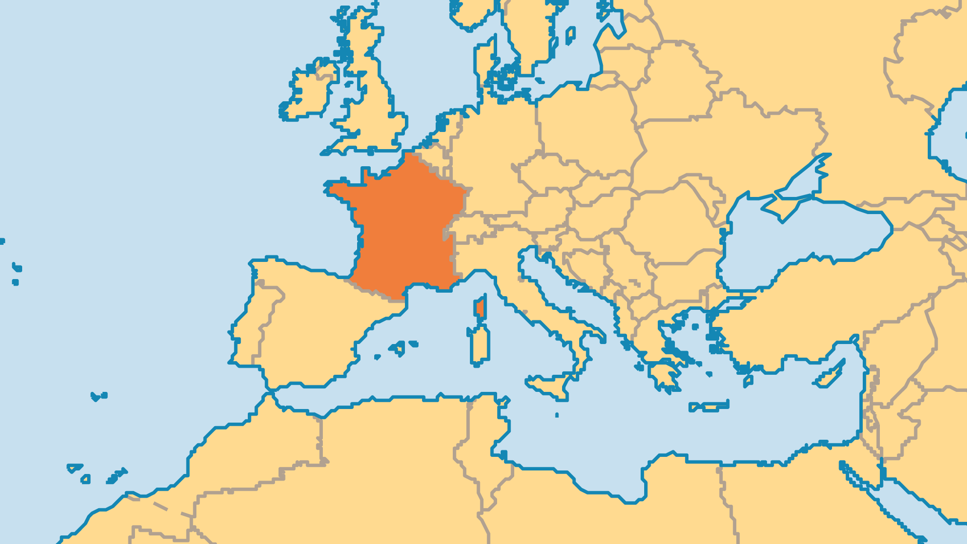 Locator Map for France