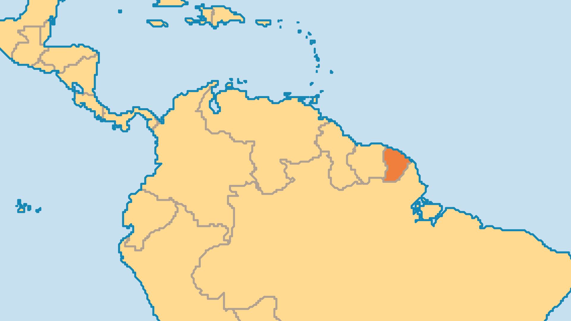 Locator Map for French Guiana