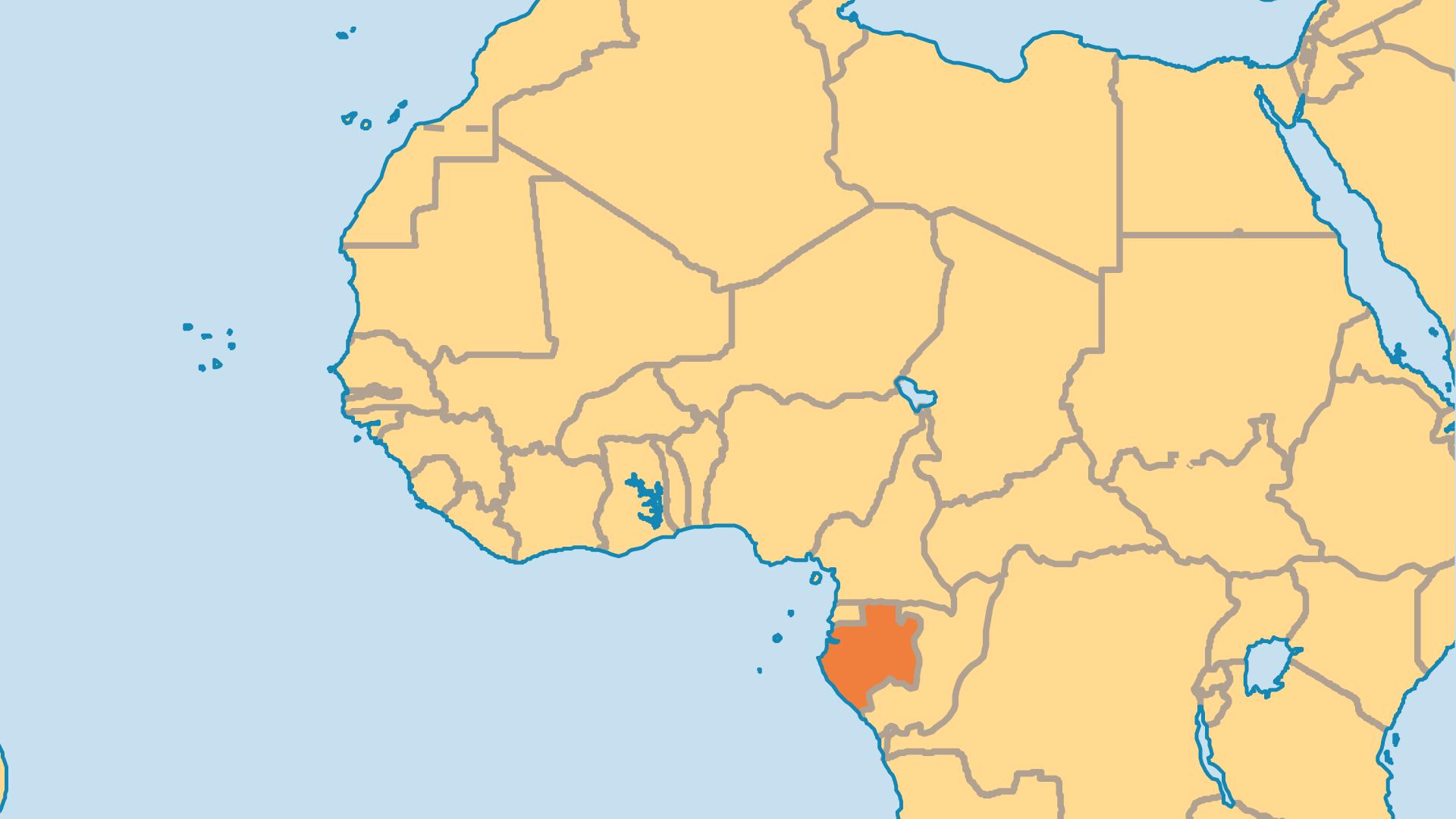 Locator Map for Gabon