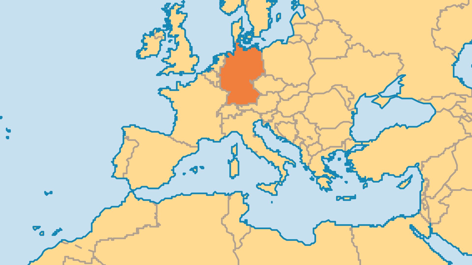 Locator Map for Germany