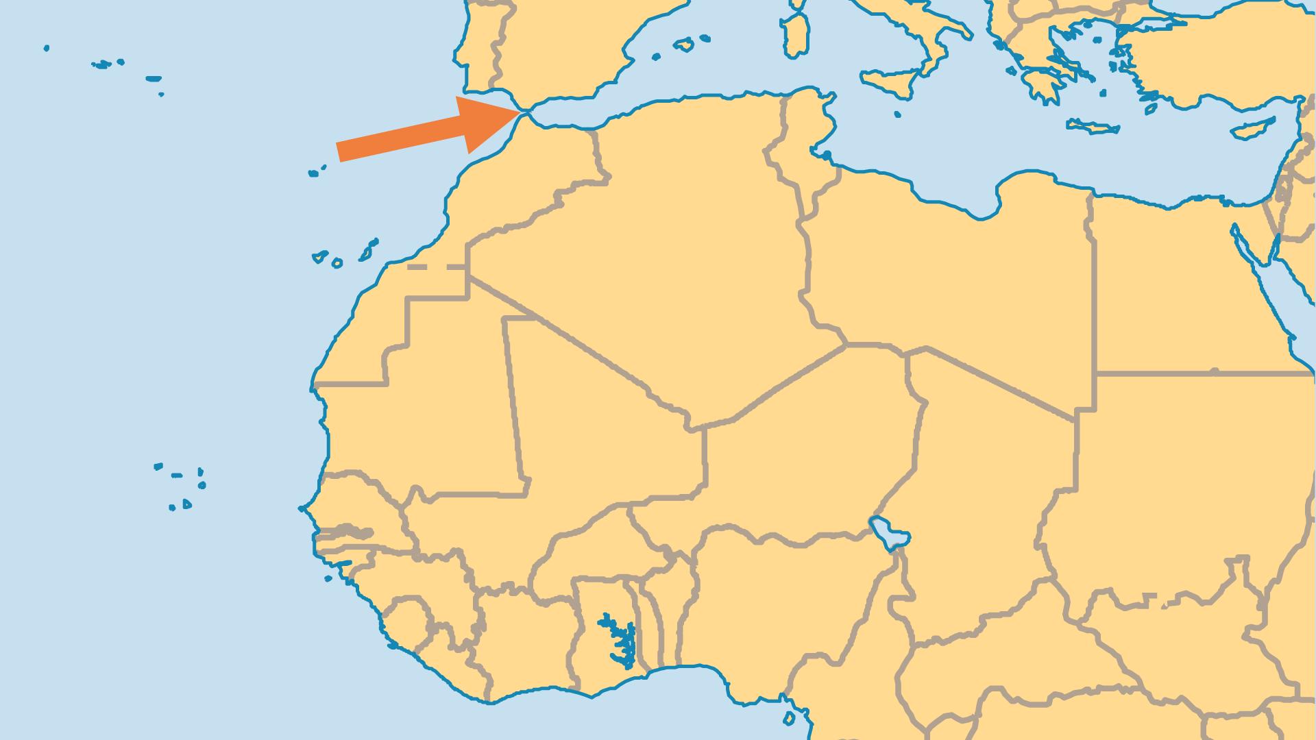 Locator Map for Gibraltar