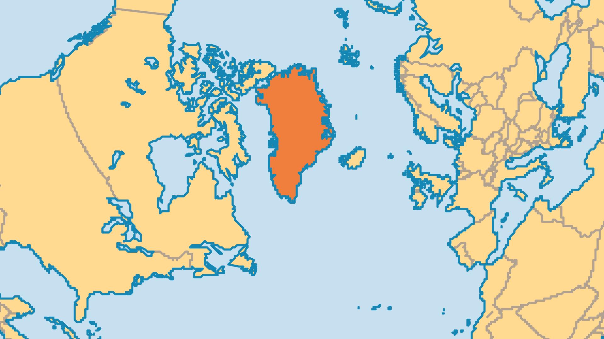 Locator Map for Greenland