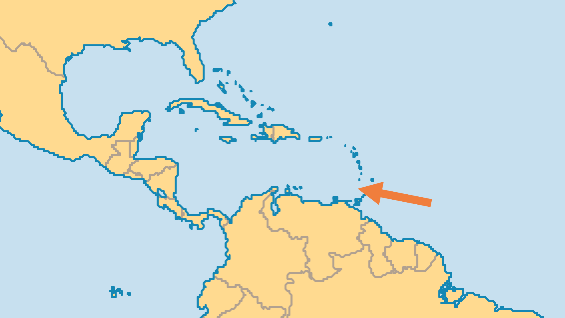 Locator Map for Grenada