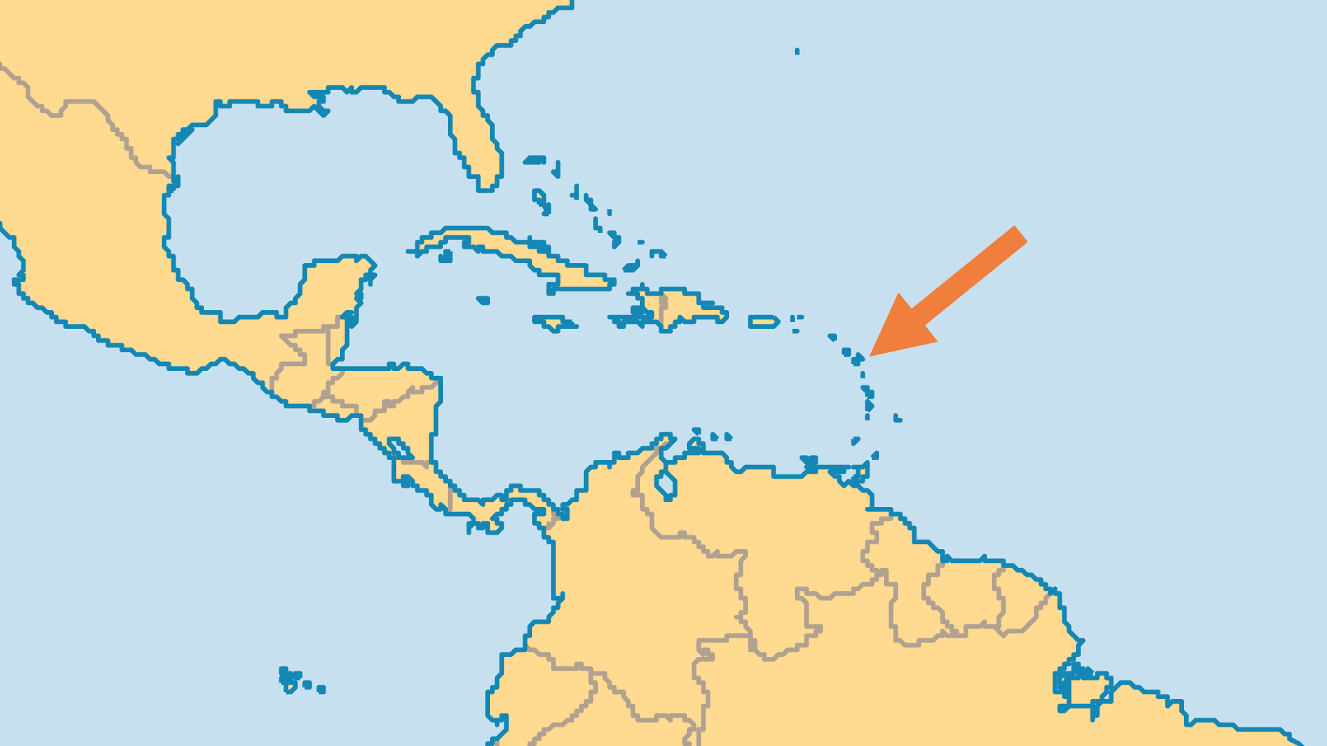 Locator Map for Guadeloupe