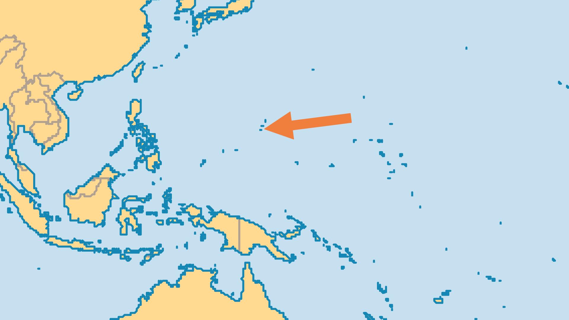 Locator Map for Guam