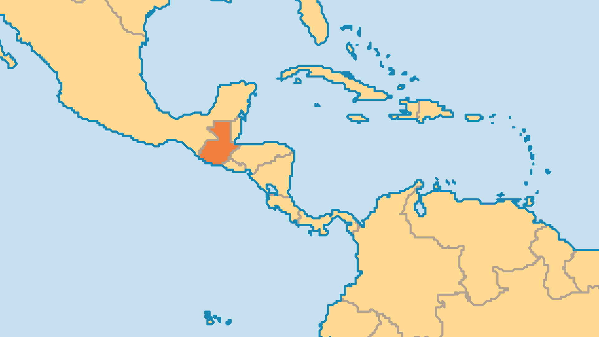 Locator Map for Guatemala