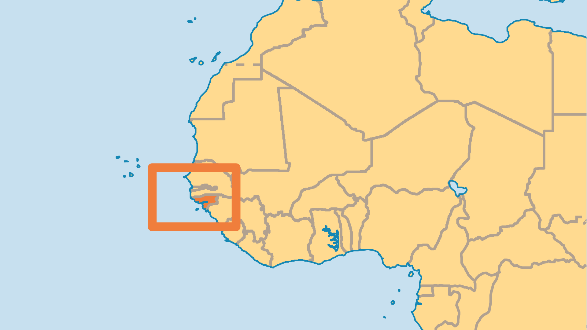 Locator Map for Guinea-Bissau