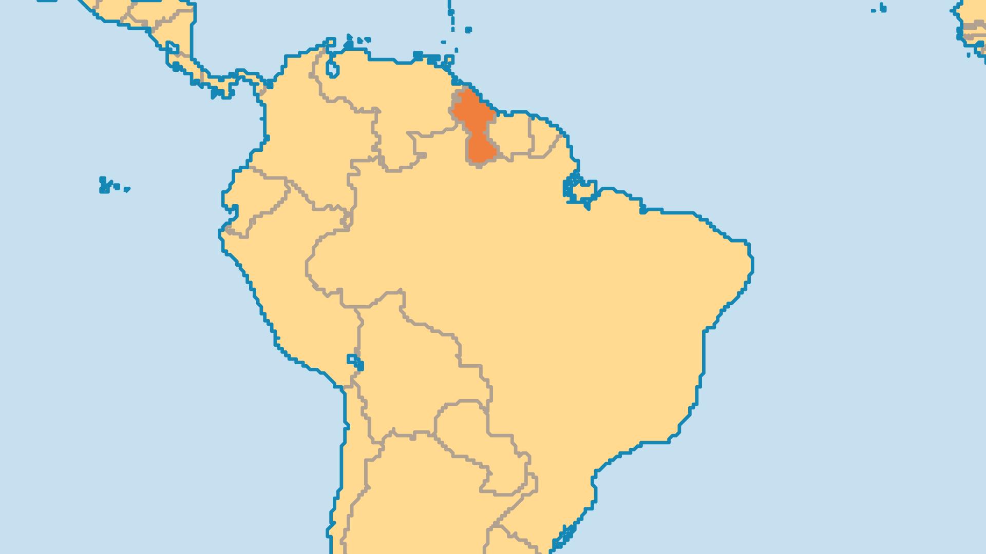 Locator Map for Guyana