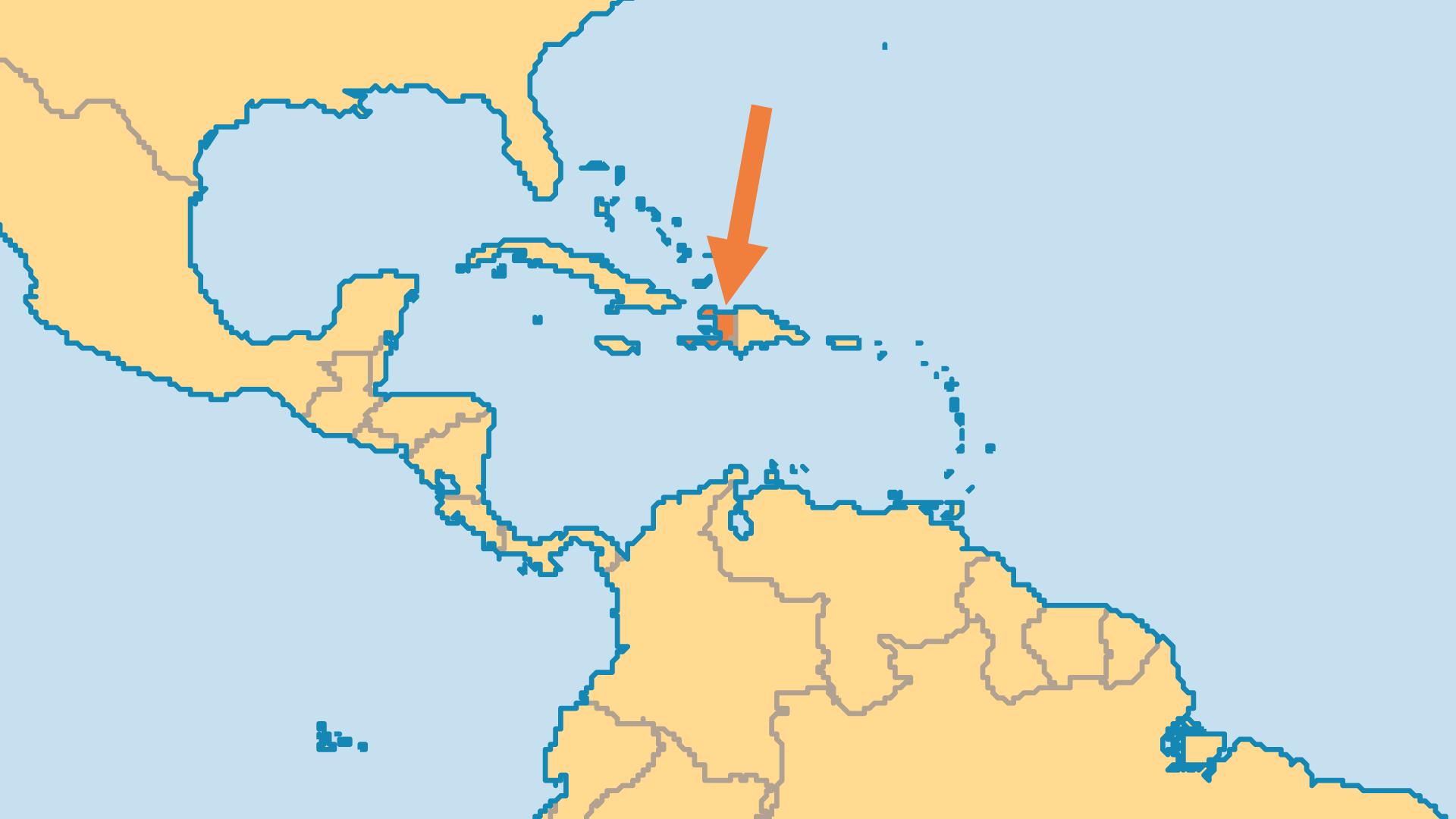 Locator Map for Haiti