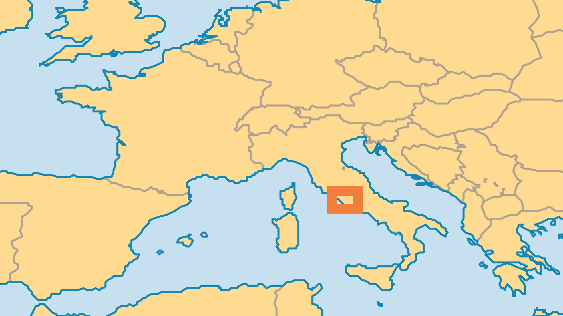 Locator Map for Holy See (Vatican City)