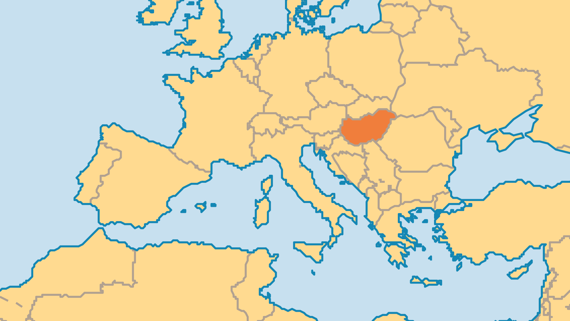Locator Map for Hungary