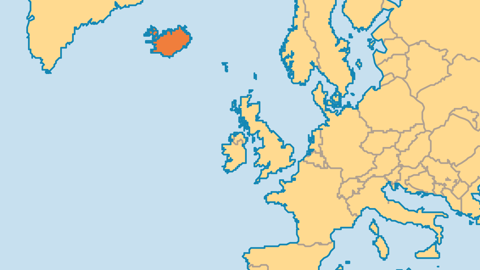 Locator Map for Iceland