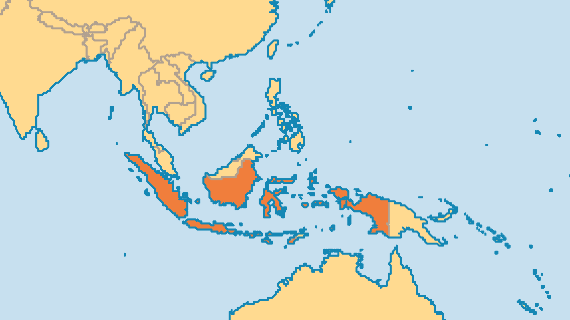 Locator Map for Indonesia