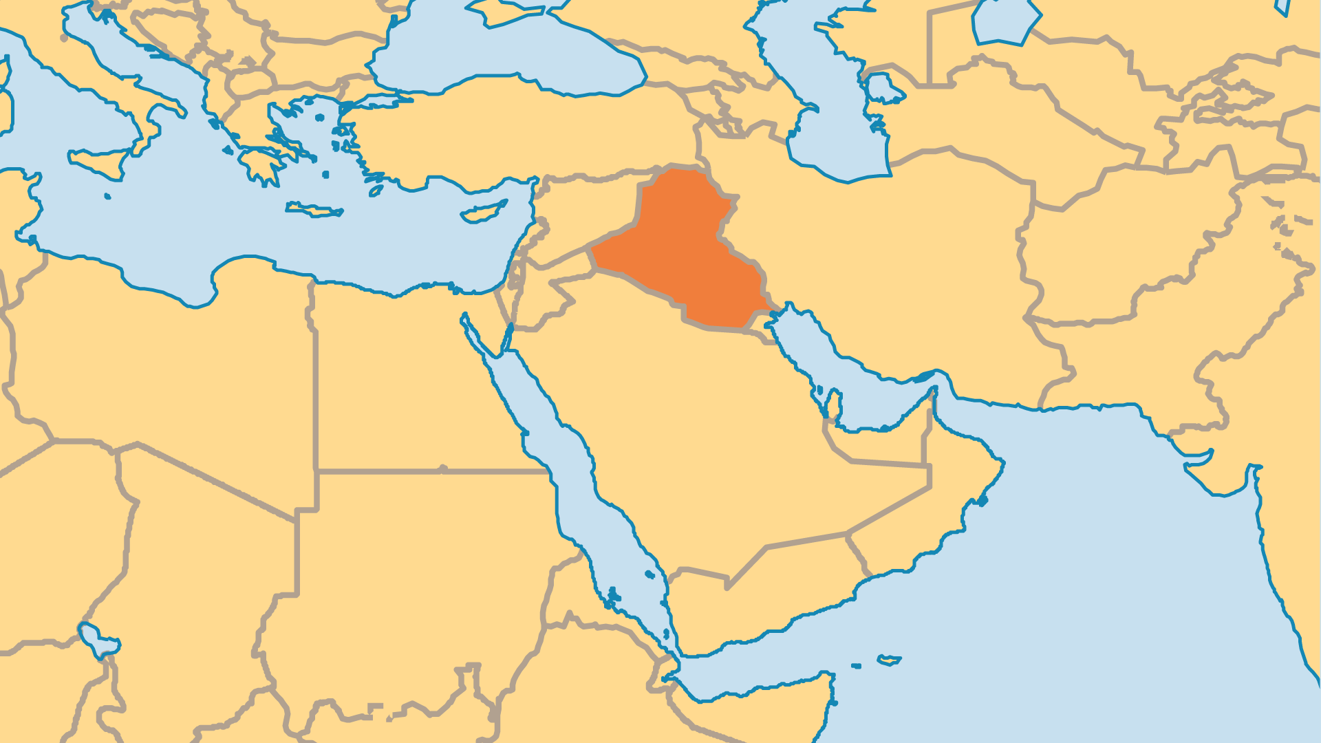 Locator Map for Iraq