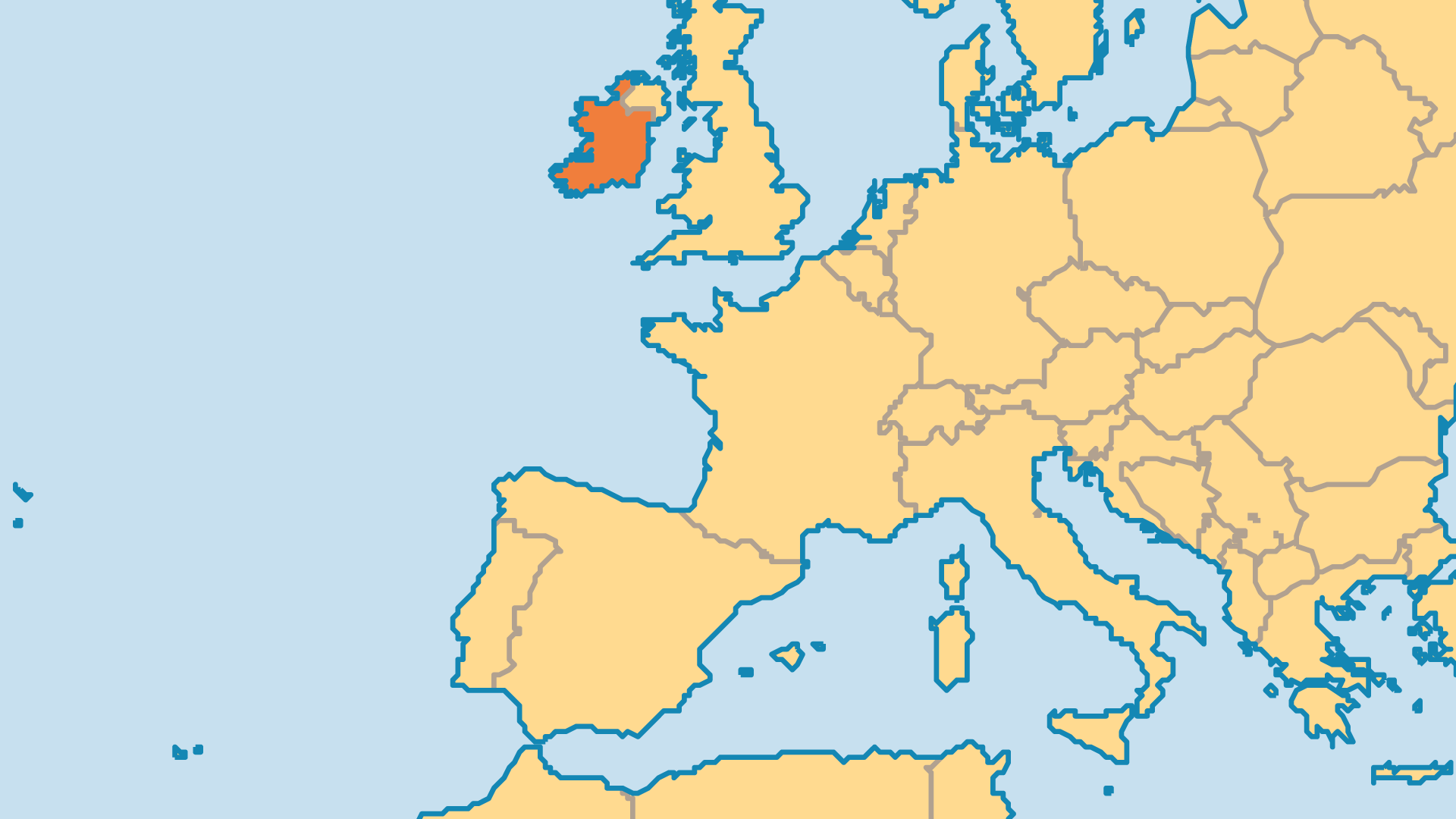 Locator Map for Ireland