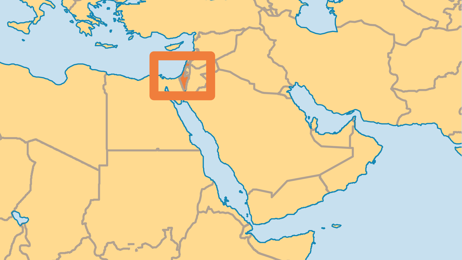 Locator Map for Israel