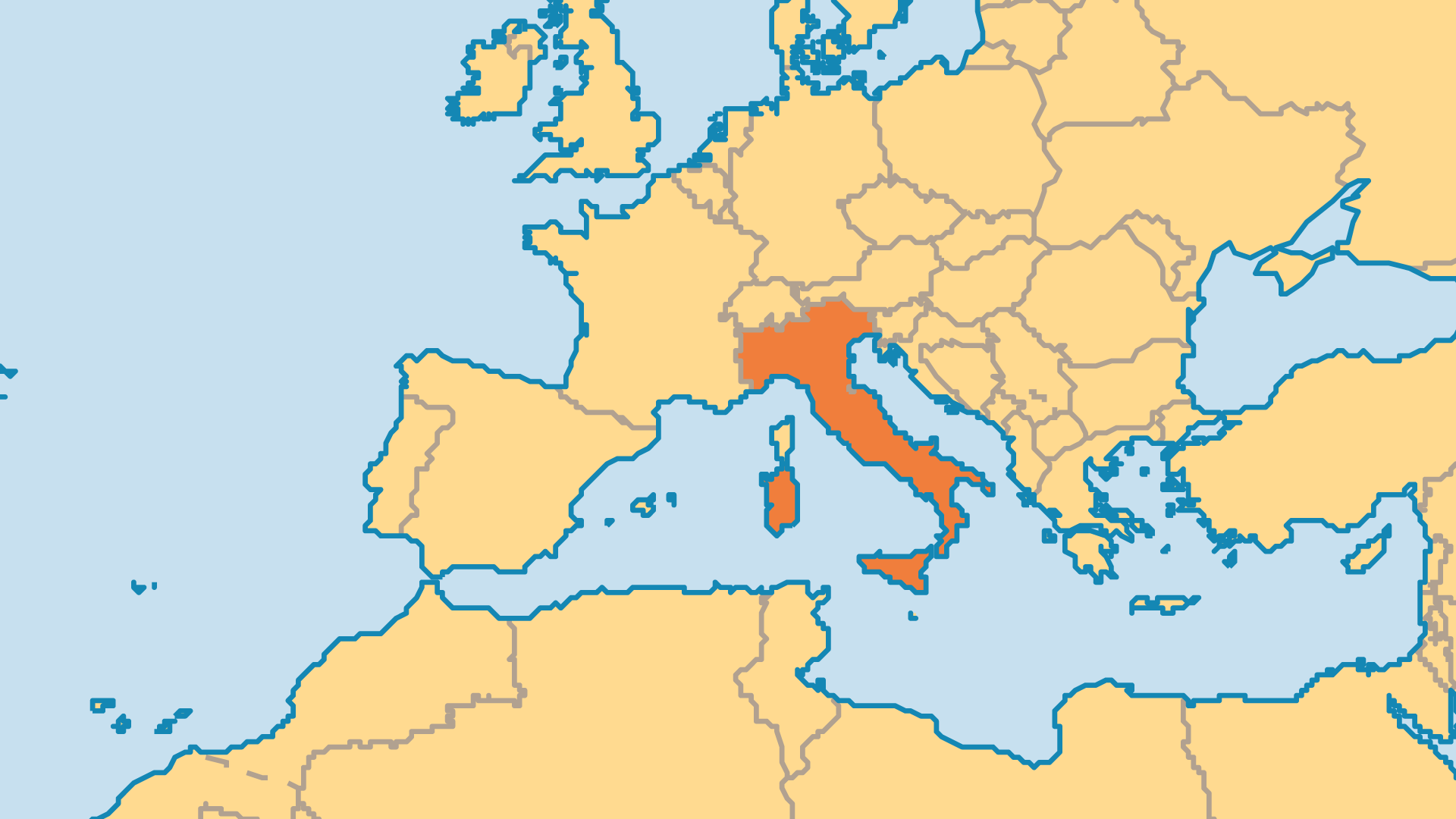 Locator Map for Italy