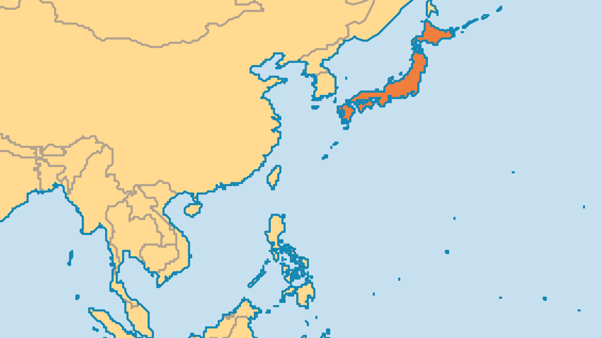 Locator Map for Japan