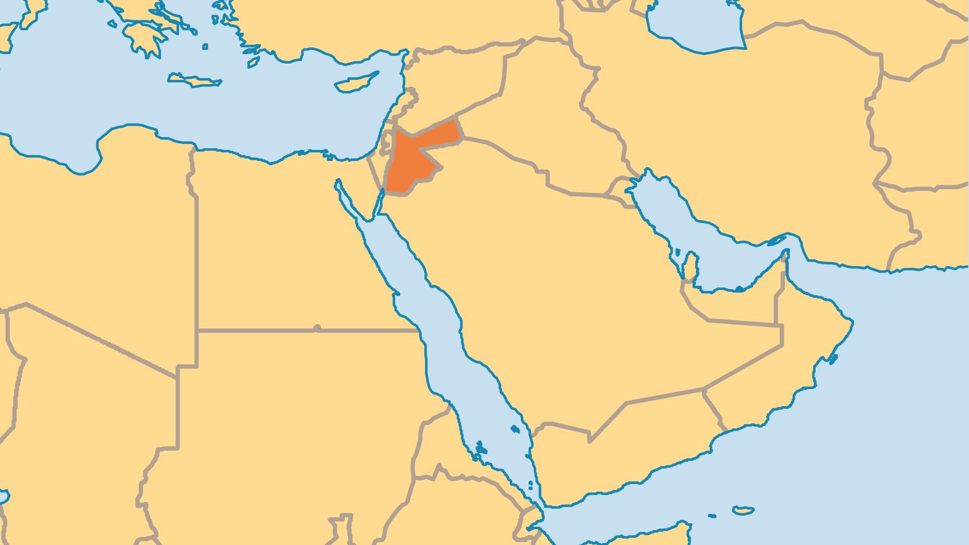 Locator Map for Jordan