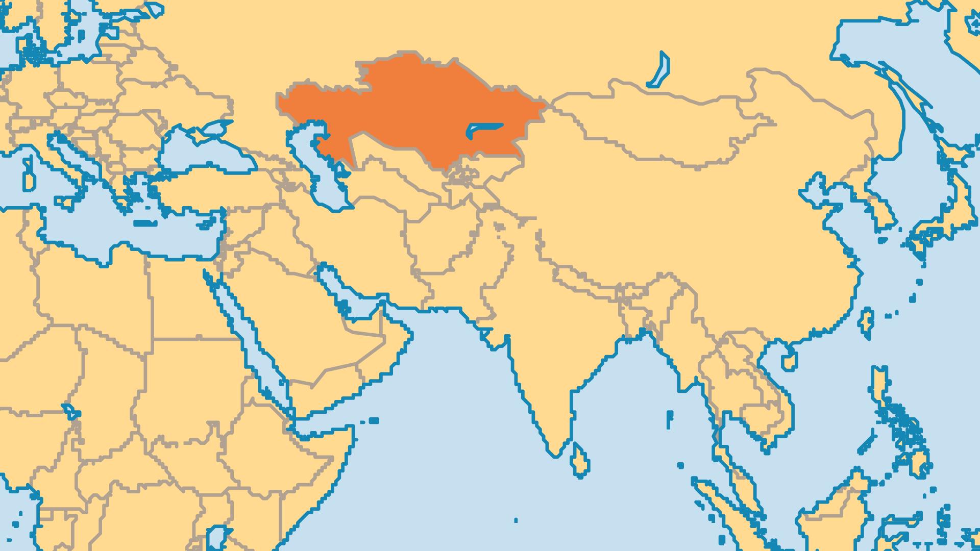 Locator Map for Kazakhstan