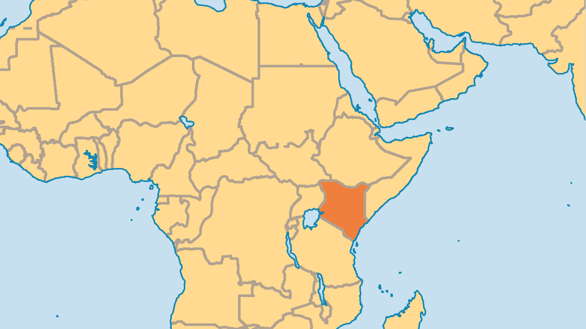 Locator Map for Kenya