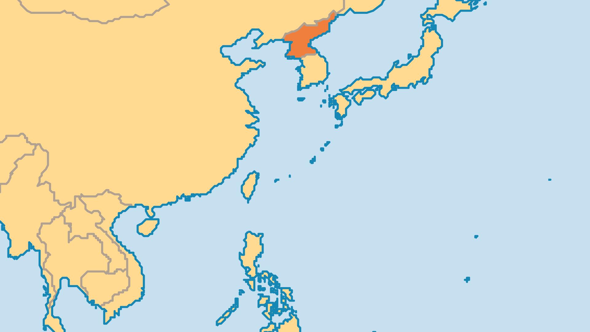 Locator Map for North Korea