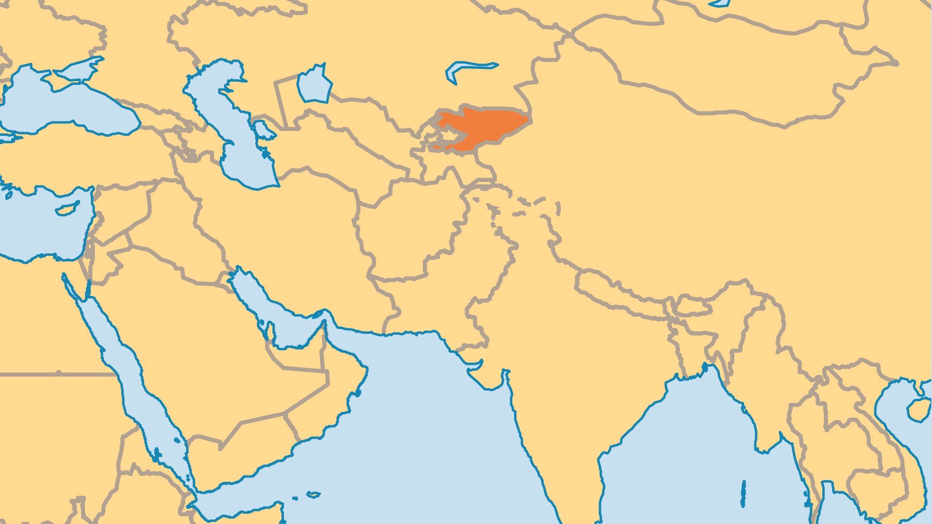 Locator Map for Kyrgyzstan