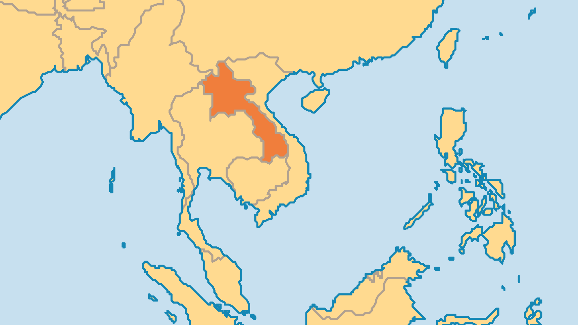 Locator Map for Laos