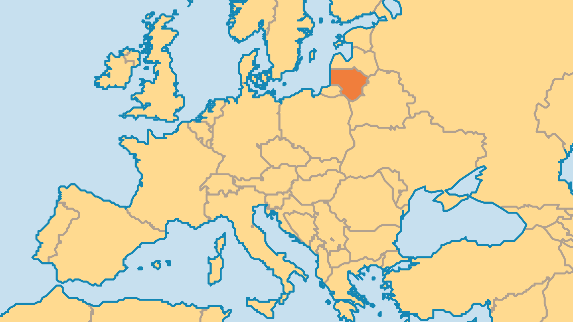 Locator Map for Lithuania