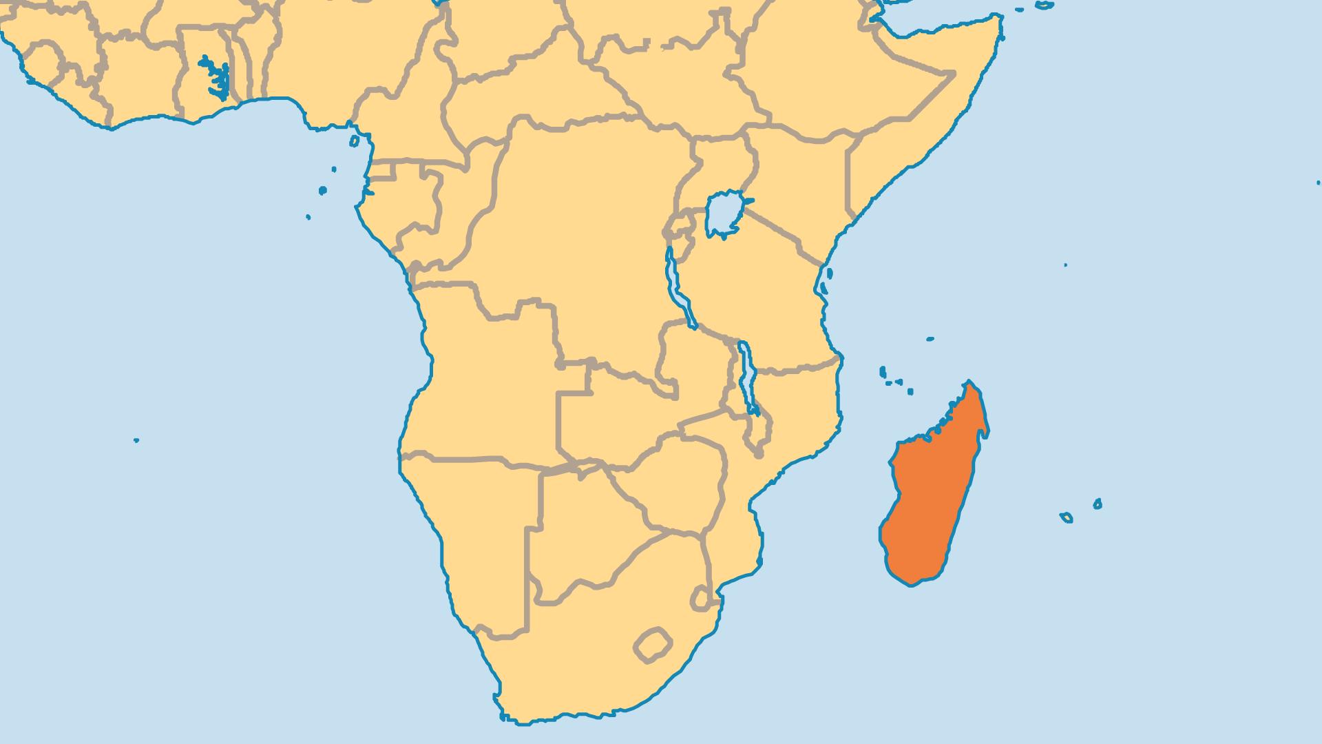 Locator Map for Madagascar