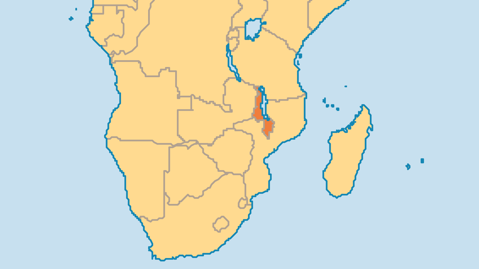 Locator Map for Malawi