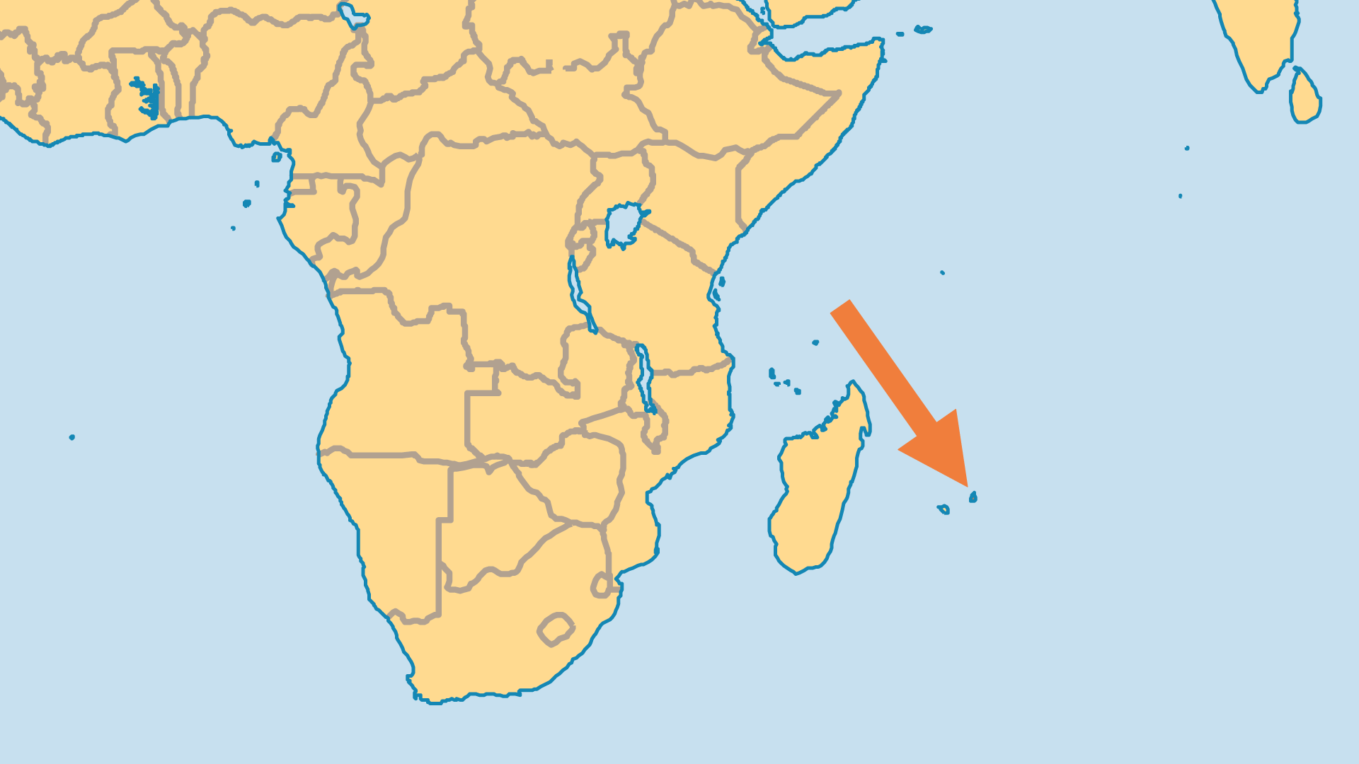 Locator Map for Mauritius