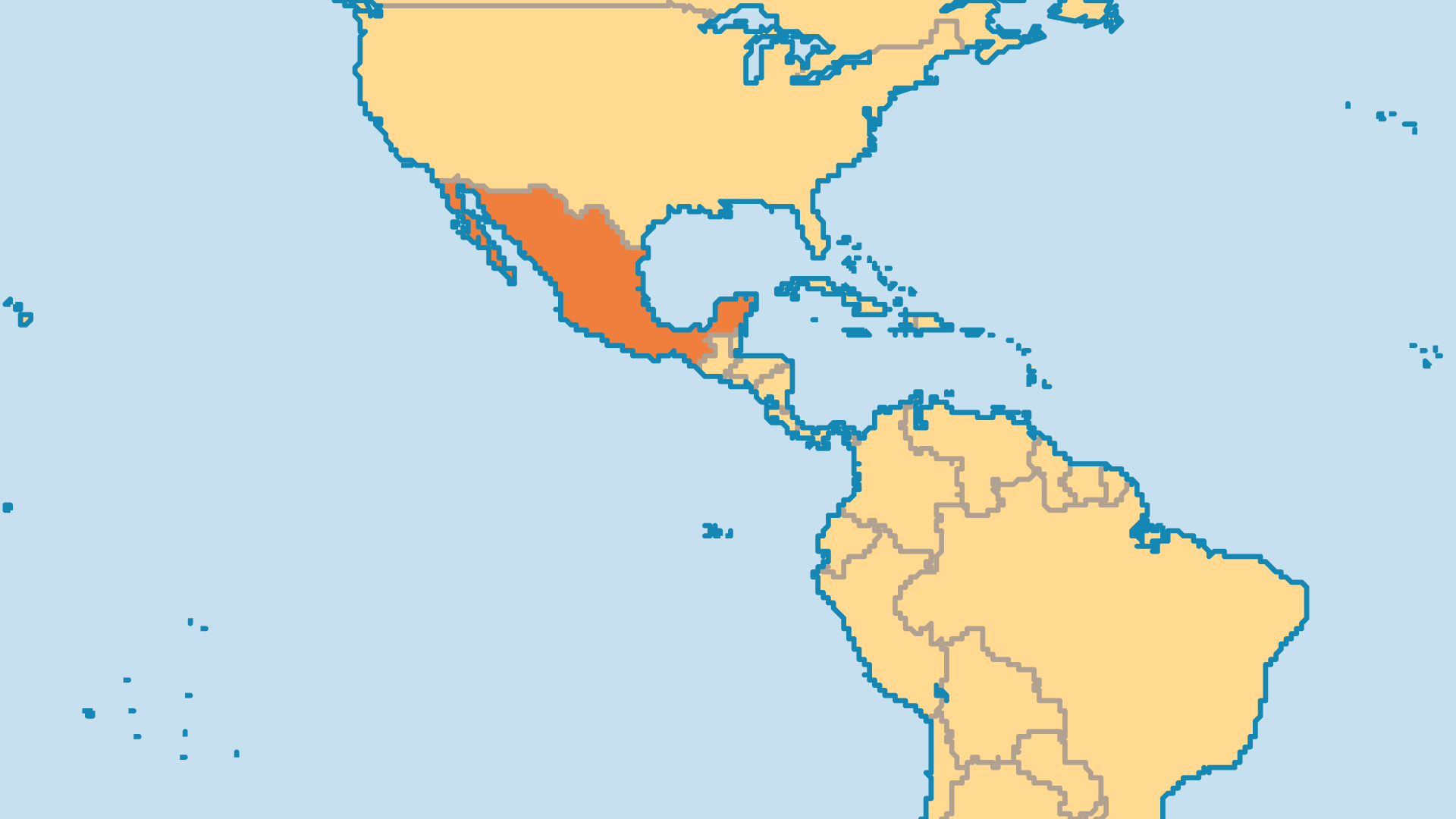 Locator Map for Mexico