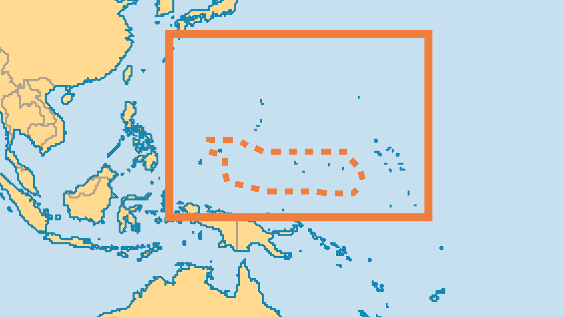 Locator Map for Federated States of Micronesia